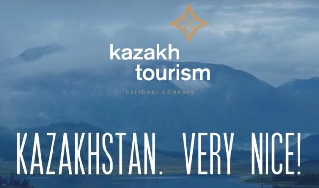 Kazakhstan tourism very nice official-slogan