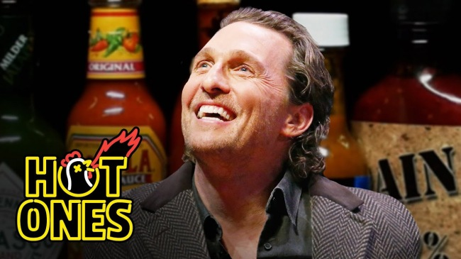 Matthew McConaughey Takes The Hot Ones Challenge Answers Questions