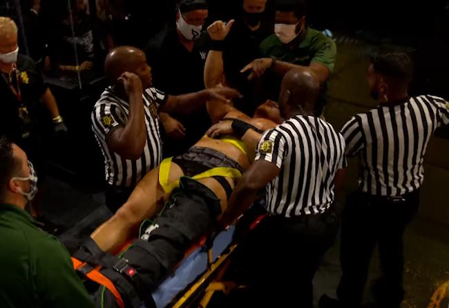 NXT Ridge Holland Leg Injury