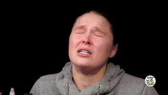 Ronda Rousey Almost Submits To The 'Hot Ones' Challenge: 'My Tears Are Burning My Face'