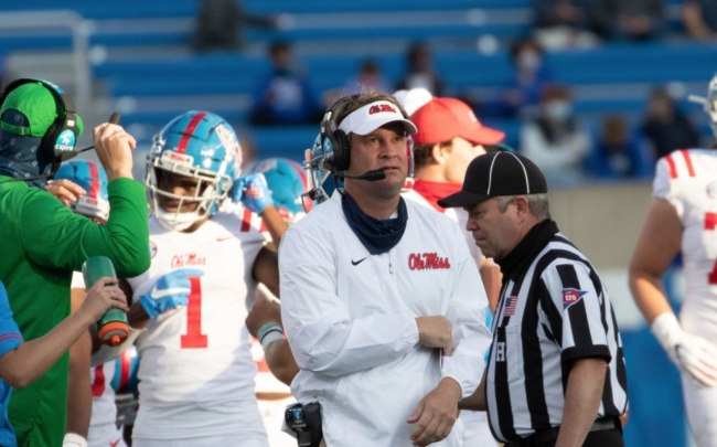 Lane Kiffin Calls Out SEC After Its Explanation Regarding Late Controversial Kickoff In Ole Miss' Loss To Auburn
