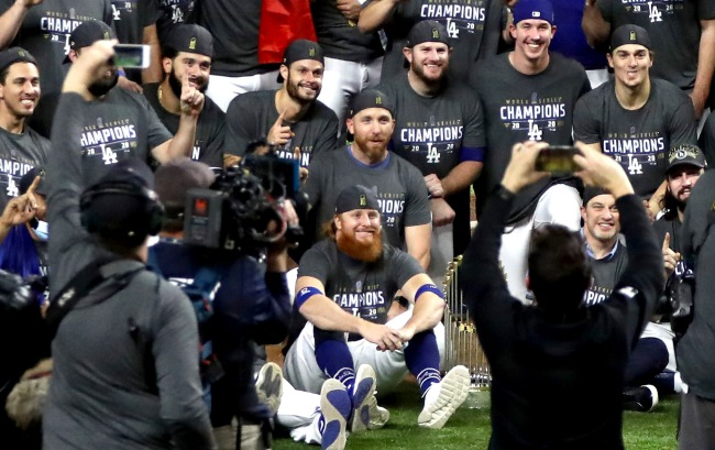 Why Was Justin Turner On The Field For The World Series Celebration