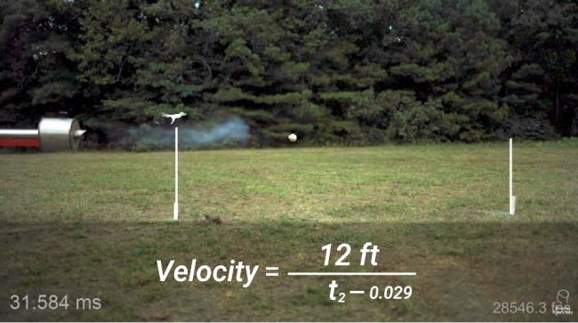 Worlds Fastest Pitch Using Supersonic Baseball Cannon