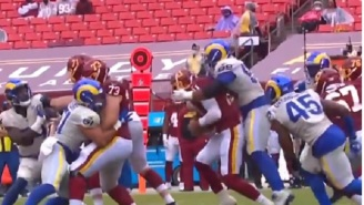 Aaron Donald Yelled That 'MFer's Leg Is Strong' After Jumping On Alex Smith's Back During Sack