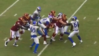 Aaron Donald Sacks Alex Smith And Jumps On His Back In Smith's First Game Back From Devastating Injury
