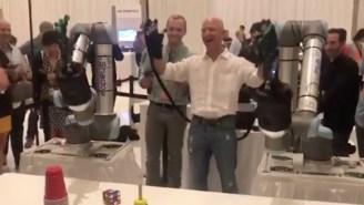 Jeff Bezos Gleefully Wielding Doc Ock Arms Definitely Isn't Deeply Troubling