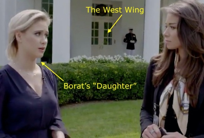 "Borat's ""Daughter"" Also Got Access To The White House, Met Don Jr."