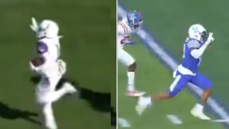 Two College Football Players In Different Games Get Tackled Immediately After Celebrating TD Prematurely By Throwing Up The Peace Sign