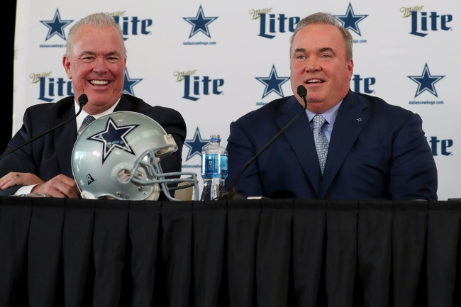 Dallas Cowboys V.P. Stephen Jones defends the hiring of Mike McCarthy, saying he's the right man for the job