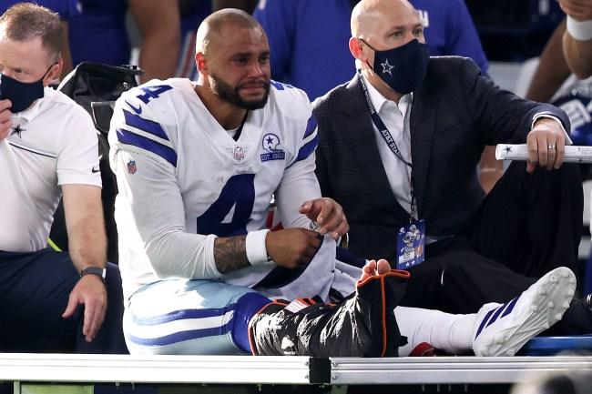 Confused Dallas Cowboys fans are blasting retired RB Rashad Jennings for the Dak Prescott injury