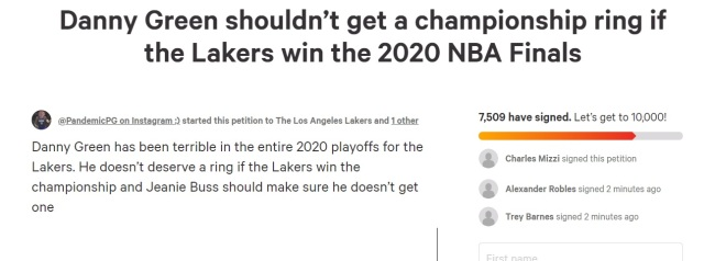 Over 7,500 Laker Fans Sign Petition To Prevent Danny Green ...