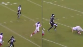 NFL Fans Mock Giants QB Daniel Jones After He Embarrassingly Tripped Over Himself On What Should Have Been A Sure 90-Yard TD Run