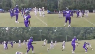 People Are Losing It Over This 6'2″ 10-Year-Old Football Player Who Makes The Other Kids Look Like Babies