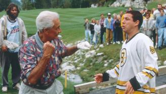 Bob Barker Was Not Adam Sandler's First Choice For Iconic Fight Scene In 'Happy Gilmore'