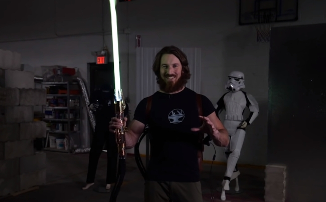 In 'Make It Real' series, Hacksmith Industries created the world's first retractable, plasma-based lightsaber based on Star Wars.