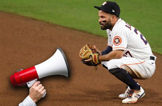 man taunting houston astros megaphone backstory