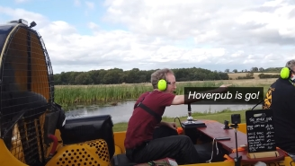 Man Brilliantly And Legally Avoids Paying Liquor License With Hovercraft Bar, But Things Get Messy