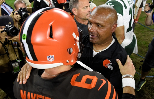 Former Cleveland Browns head coach Hue Jackson claims a new book will expose the franchise