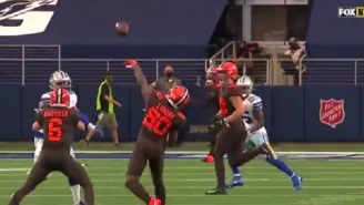Jarvis Landry Throws Impressive 37-Yard TD Pass To Odell Beckham Jr Off Amazing Trick Play