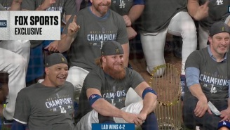 Maskless Justin Turner Spotted On Field Celebrating Dodgers' World Series Win With Teammates After Testing Positive For COVID-19