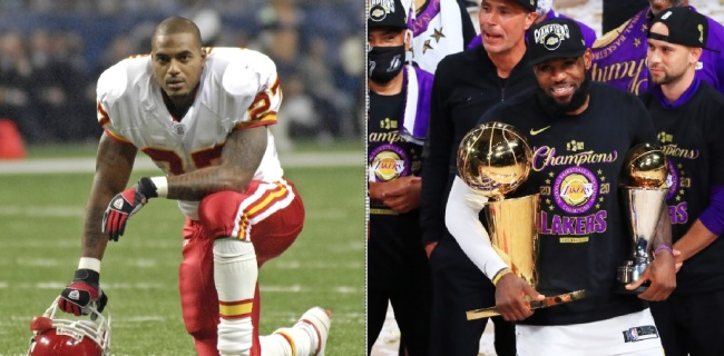 Former NFL RB Larry Johnson Believes LeBron James Committed A Satanic 'Blood Sacrifice' With Kobe Bryant To Win NBA Championship