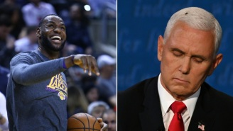 LeBron James Fired Off A Hilarious Joke About The Huge Fly That Landed On Mike Pence's Head During The Vice Presidential Debate