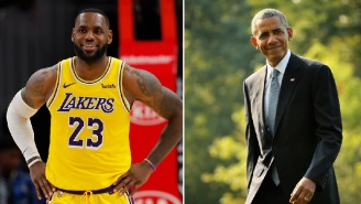 LeBron James Was Impressed With Barack Obama Casually Hitting A 3-Pointer At Biden Campaign Stop