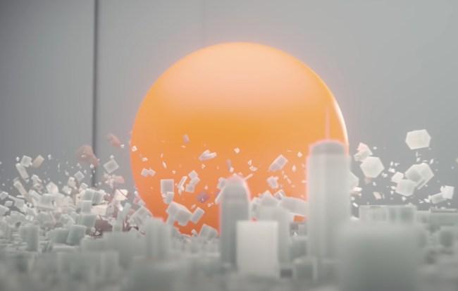 Nuclear blast simulation