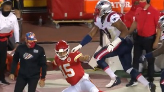 Patrick Mahomes' Fiancée Angrily Calls For Patriots DE To Get Ejected Despite Mahomes Appearing To Flop On Play