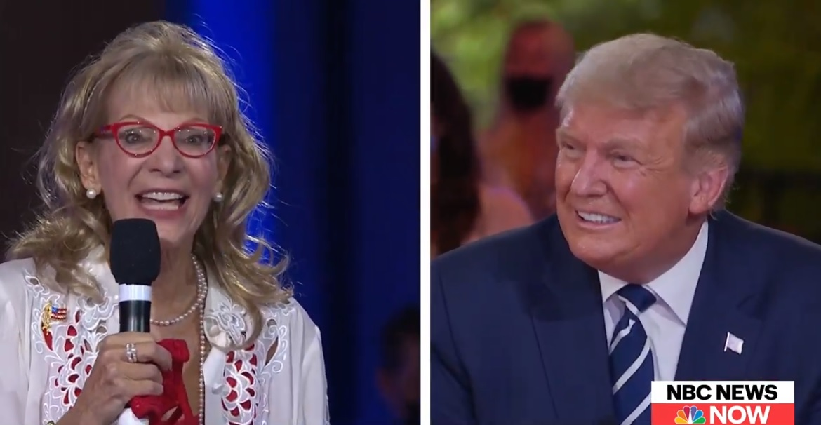 Things get awkward when woman hits on Donald Trump during town hall