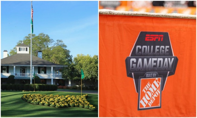 college gameday at the masters