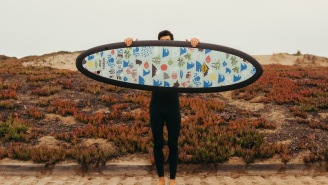 This Extremely Limited-Edition Surfboard Collab Features Vintage Art And It Doesn't Need Any Wax!