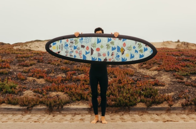 R Series Almond x Huckberry Surfboards Yusuke Hanai