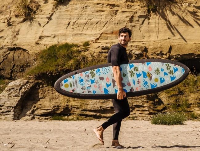 R Series Almond x Huckberry Surfboards Yusuke Hanai