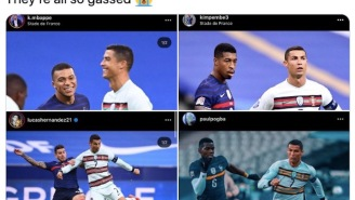 Even The World Cup-Winning French National Team Turned Into A Bunch Of Fanboys Around Cristiano Ronaldo