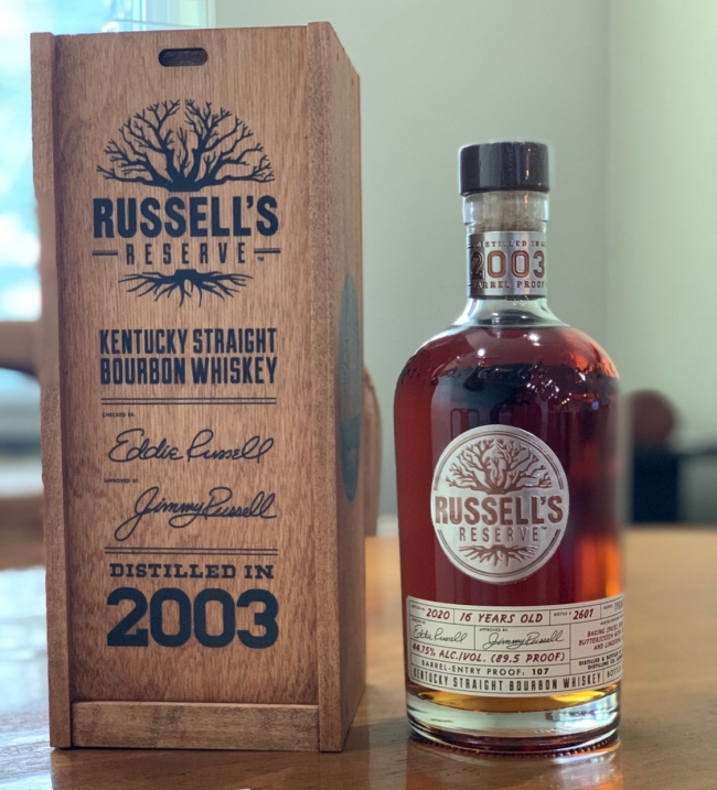Russell's Reserve 2003 barrel proof Vintage series