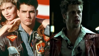 You Can Own The Jackets Tom Cruise Rocked In 'Top Gun' And Brad Pitt Wore In 'Fight Club' Assuming You Have A Boatload Of Money