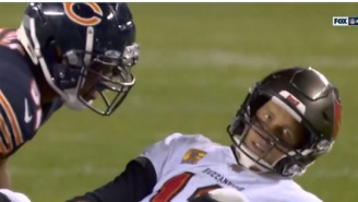 Tom Brady Looked Like He Was Sick And Tired Of Getting Hit By Khalil Mack When He Rolled His Eyes At Mack After Play