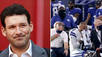 NFL Fans React To Tony Romo's Absolutely Bizarre 'You Gotta Hope It's A Cramp' Comment During Dak Prescott's Gruesome Ankle Injury