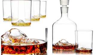 Sip Your Holiday Whiskey From America's Iconic Mountaintops With The Whiskey Peaks Decanter + Whiskey Glass Set