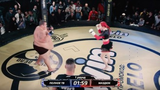 139 Pound Woman TKO's 529 Pound Man In 90 Seconds At Freak Show MMA Event In Russia