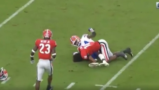 Georgia DB Lewis Cine Ejected After Brutal Helmet-To-Helmet Hit On Gators' Kyle Pitts Led To Both Players Potentially Suffering Concussions