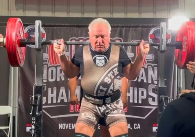 71-year-old powerlifting world record setter