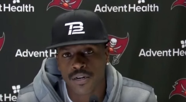 Antonio Browns First Press Conference As A Member Of The Buccaneers