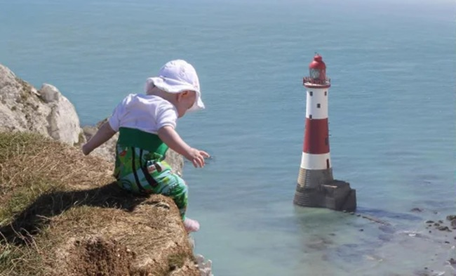 Dad Photoshops Baby Into Dangerous Situations Mom Checks In