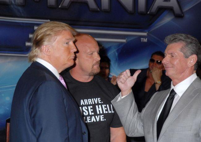 Donald Trump Vince McMahon Slight
