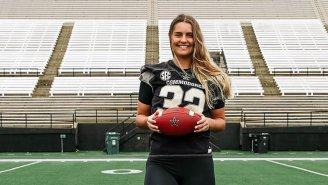 Vanderbilt Soccer Goalie Sarah Fuller Will Kick For The Football Team On Saturday, Making Power Five Conference History