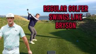 Here's What Happens When A Regular Golfer Swings Like Bryson DeChambeau