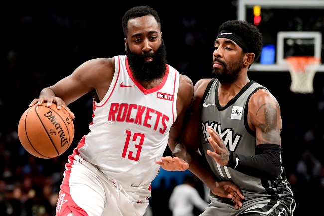 The Houston Rockets Reportedly Want Kyrie Irving Or Kevin Durant In Trade For James Harden