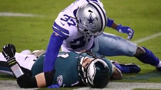 Eagles' QB Carson Wentz Gets Mocked For Having A Worse Passer Rating Than Cowboys Third-String Rookie QB Ben DiNucci
